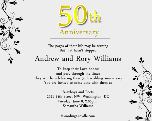 50th Anniversary Invitation Wording Luxury Funny Wording for 50th Wedding Anniversary Invitations