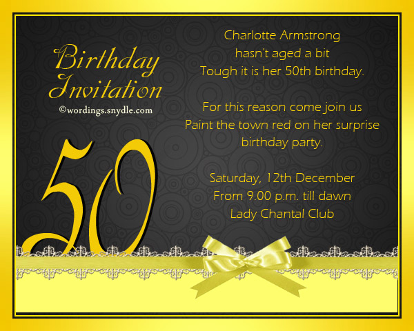 50th Anniversary Invitation Wording New 50th Birthday Invitation Wording Samples Wordings and