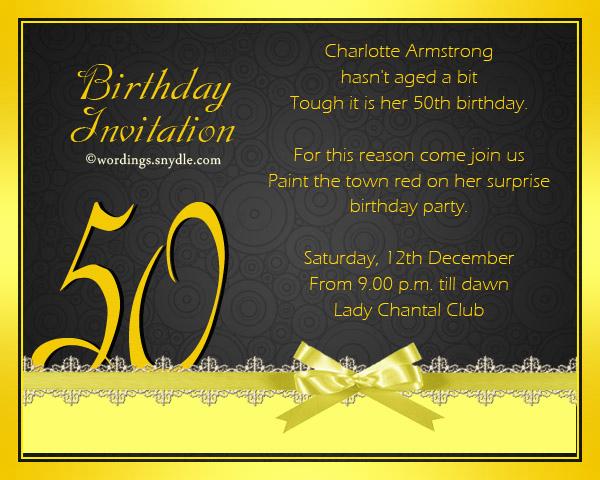 50th Anniversary Invitation Wording New 50th Birthday Invitation Wording Samples Wordings and