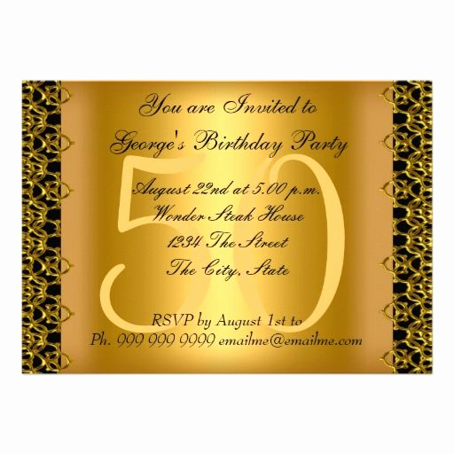 50th Birthday Invitation Card Awesome 17 Best Images About Black Gold Birthday Party Invitations
