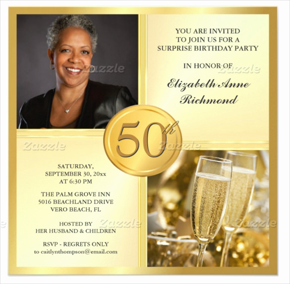 50th Birthday Invitation Card Awesome 45 50th Birthday Invitation Templates – Free Sample