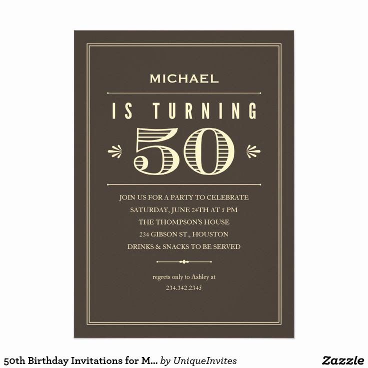 50th Birthday Invitation Card Awesome 50th Birthday Invitations for Men