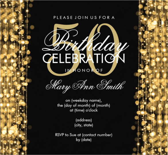 50th Birthday Invitation Card Best Of 45 50th Birthday Invitation Templates – Free Sample