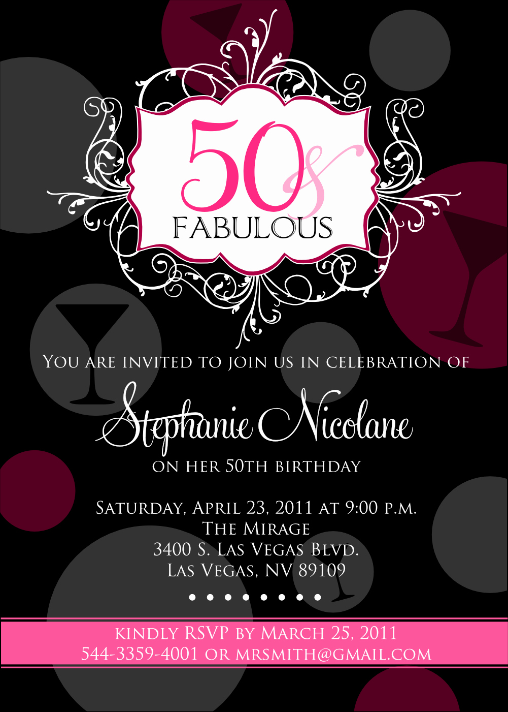 50th Birthday Invitation Card Best Of 50th Birthday Beach Party Invitations