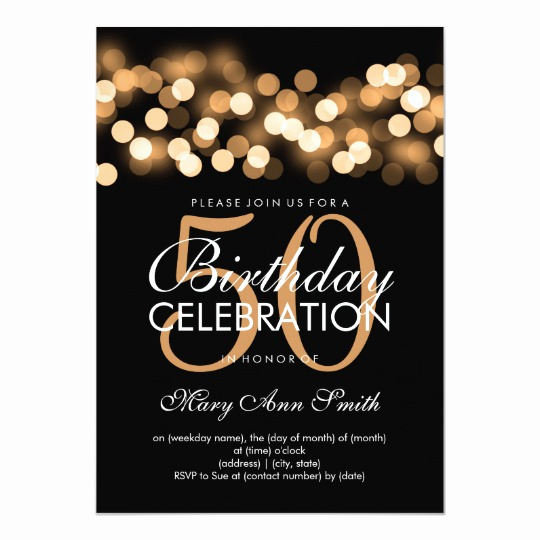 50th Birthday Invitation Card Fresh Elegant 50th Birthday Party Gold Hollywood Glam Card