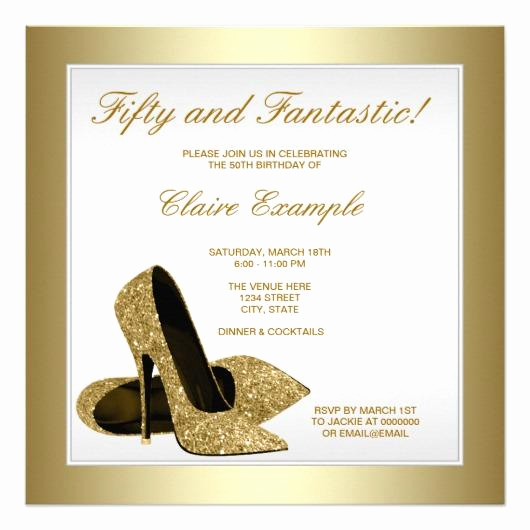 50th Birthday Invitation Card Luxury 50th Birthday Party Invitations – Invitations 4 U