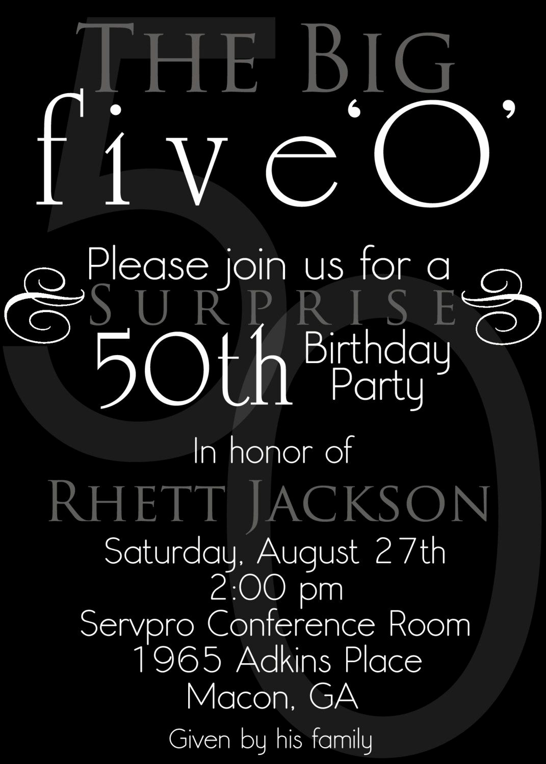 50th Birthday Invitation Ideas Awesome Nice the 50th Birthday Invitation Template Free Templates