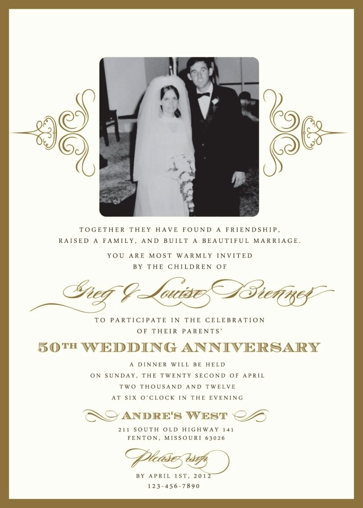 50th Birthday Invitation Ideas Beautiful Wedding Invitations for A 50th Wedding Anniversary