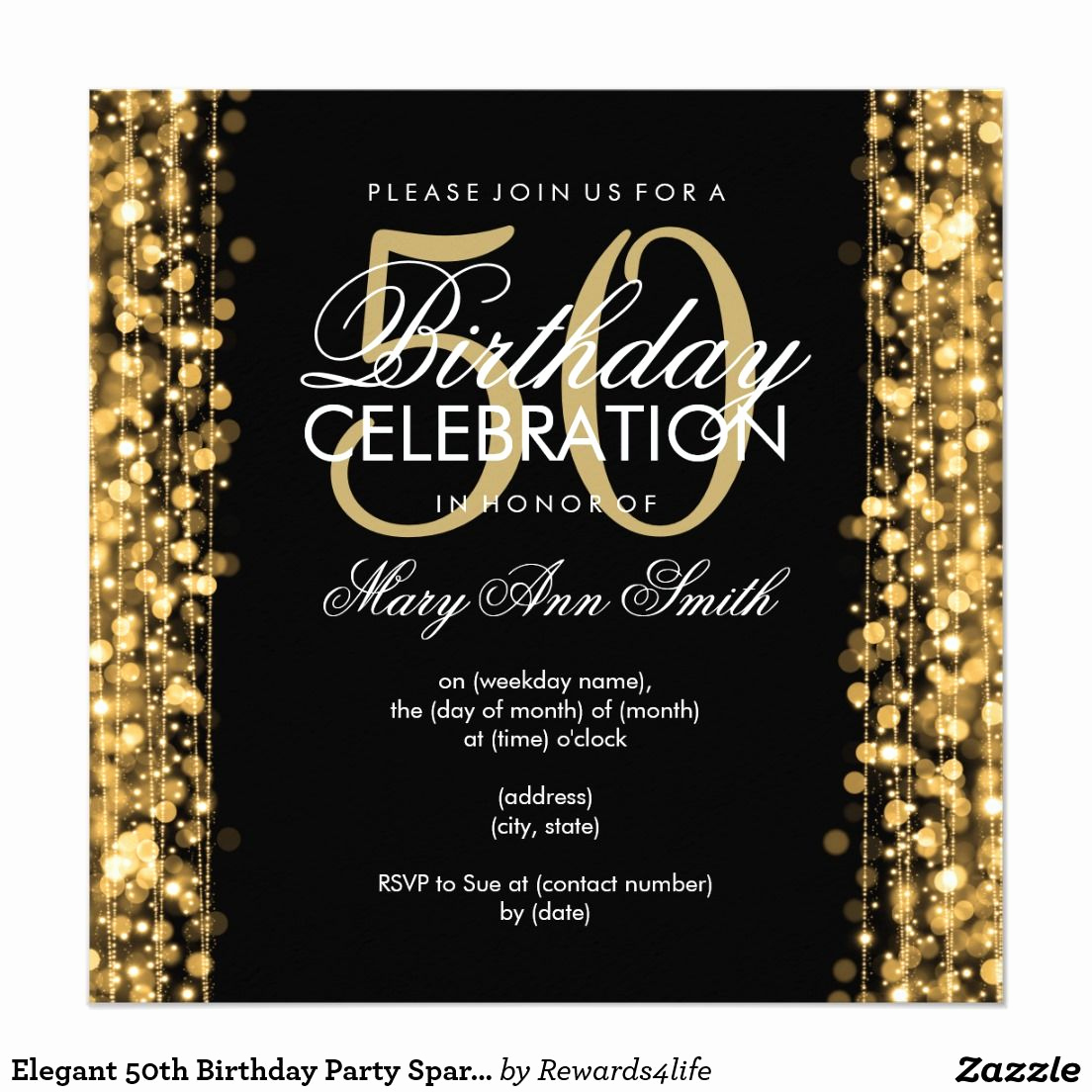 50th Birthday Invitation Ideas Best Of 50 Birthday Celebration Party Invitations