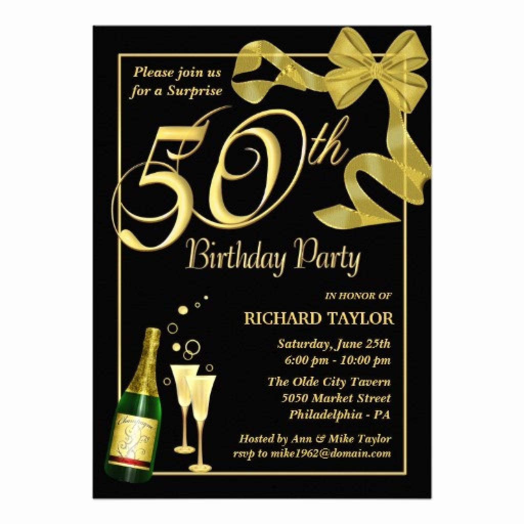 50th Birthday Invitation Ideas Elegant Men · 50th Birthday Invitations for Him