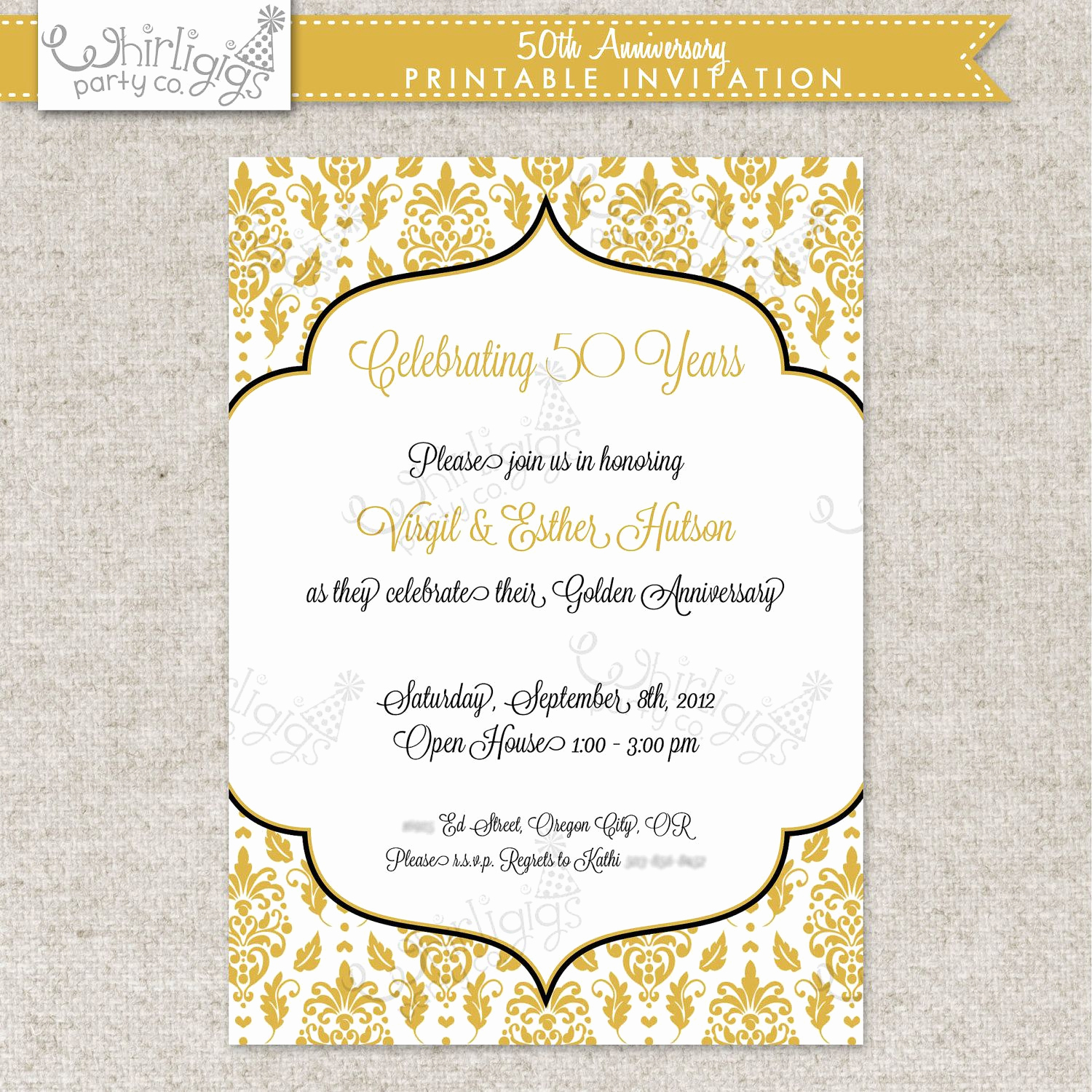50th Birthday Invitation Ideas Inspirational 50th Anniversary Party Invitation Printable
