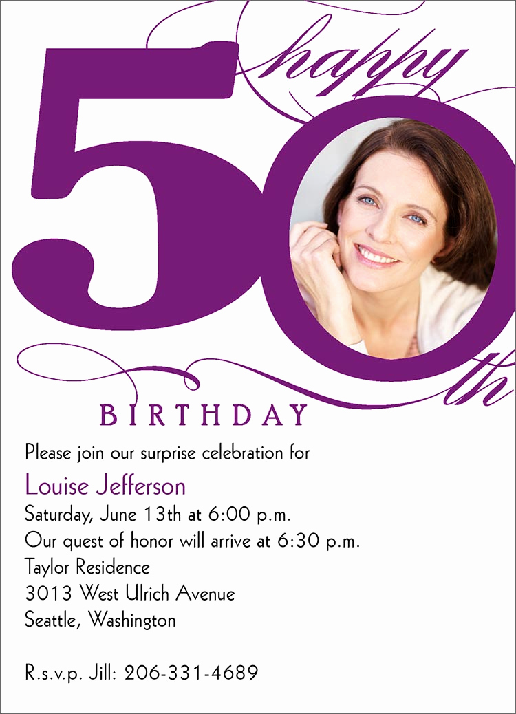 50th Birthday Invitation Ideas Inspirational 50th Milestone Birthday Birthday Invitations From