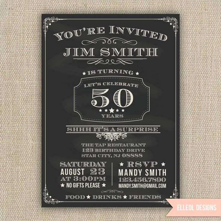 50th Birthday Invitation Ideas Lovely 21st 30th 40th 50th 60th Surprise Birthday Party