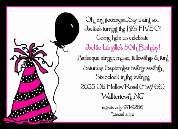 50th Birthday Invitation Ideas New 50th Birthday Party Ideas