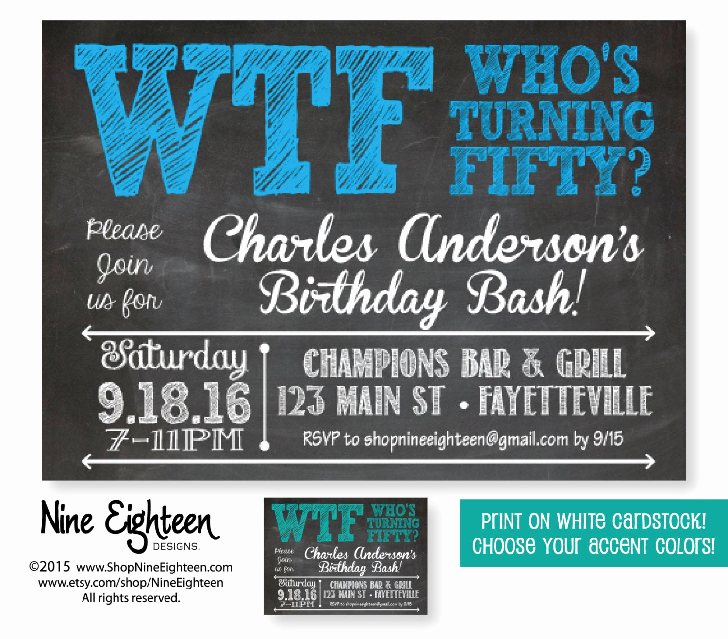 50th Birthday Invitation Ideas Unique 50th Birthday Party Invitation Wtf who S Turning by