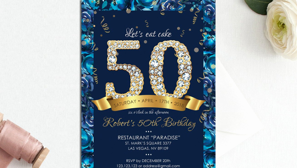 50th Birthday Invitation Template Awesome 50th Birthday Invitation Templates 21 Free & Premium
