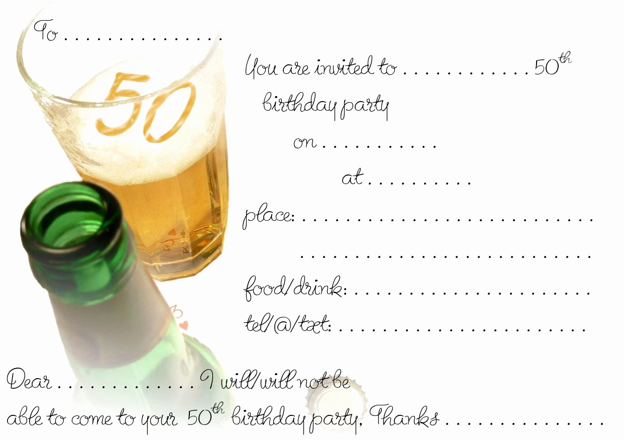 50th Birthday Invitation Template Awesome Free Printable 50th Birthday Invitations Templates