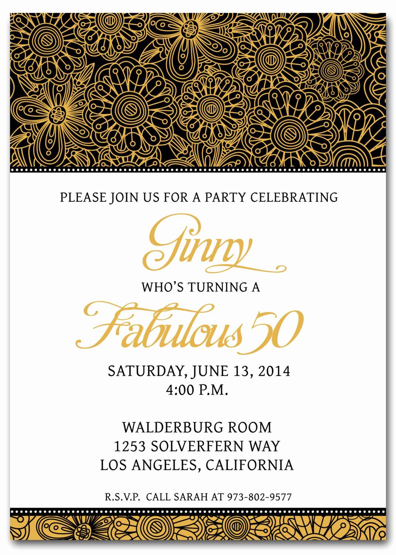 50th Birthday Invitation Template Beautiful 50th Birthday Invitation Templates Free Printable