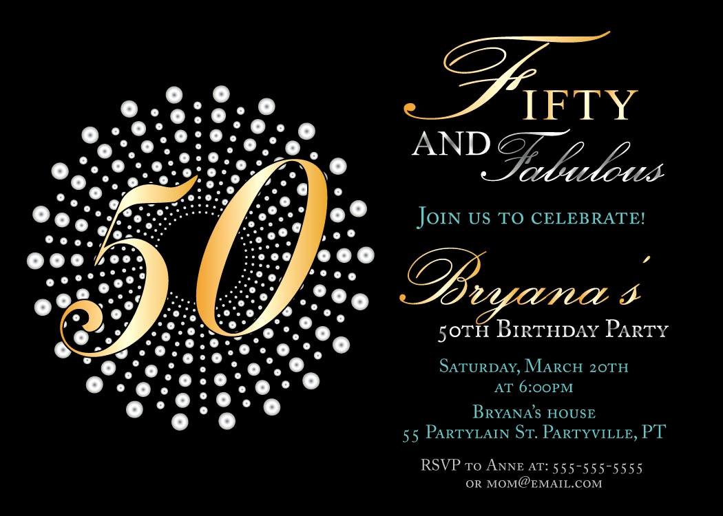 50th Birthday Invitation Template Beautiful 50th Birthday Invitations Free — Birthday Invitation Examples