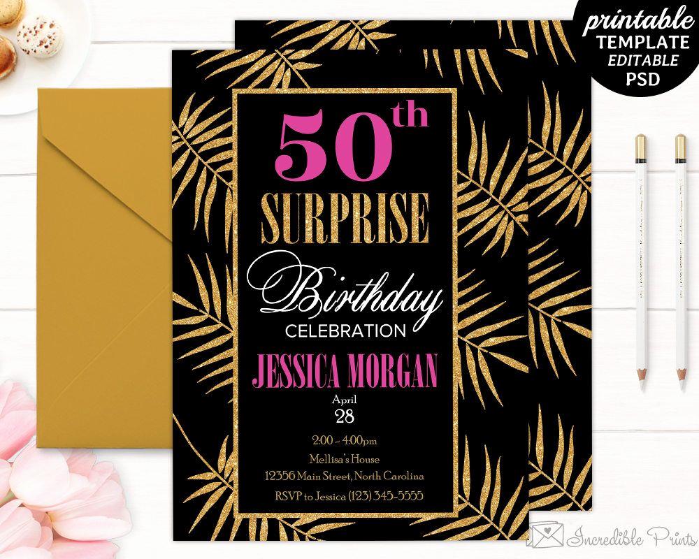50th Birthday Invitation Template Beautiful 50th Birthday Party Invitation Template Birthday