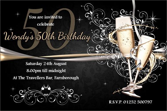 50th Birthday Invitation Template Elegant 45 50th Birthday Invitation Templates – Free Sample