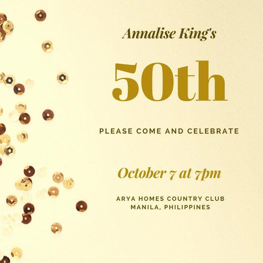 50th Birthday Invitation Template Fresh Customize 922 50th Birthday Invitation Templates Online