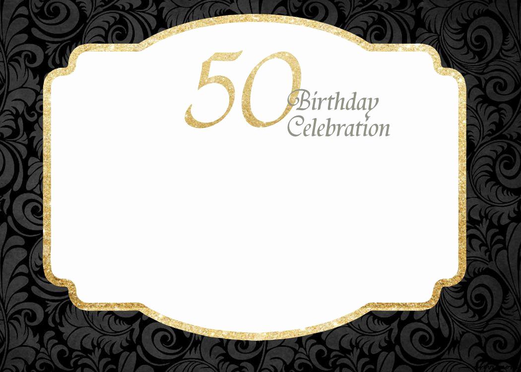 50th Birthday Invitation Template Lovely Free Printable 50th Birthday Invitations