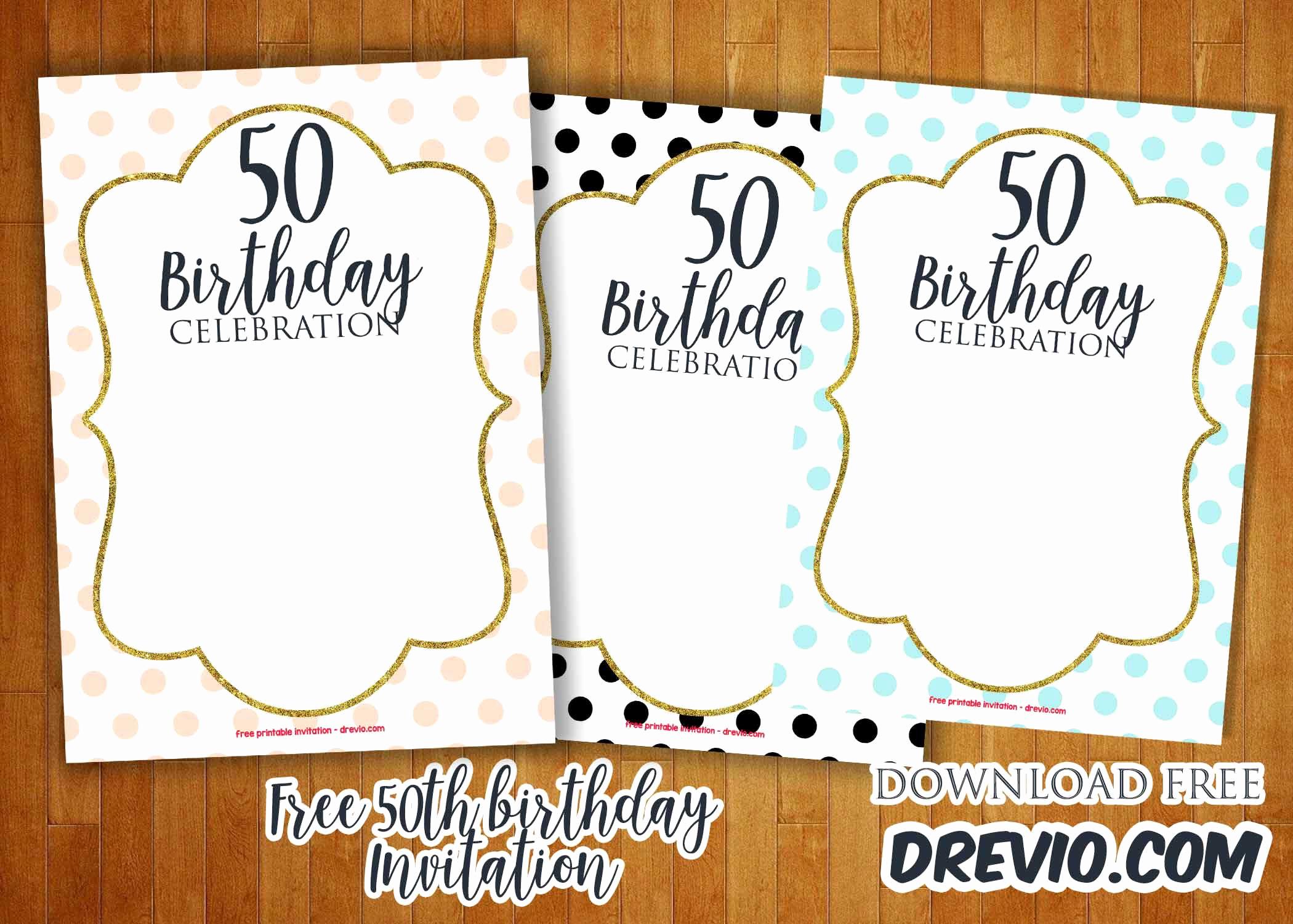 50th Birthday Invitation Template Luxury 50th Birthday Invitations Line