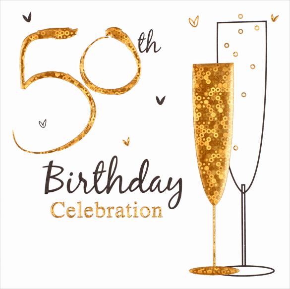 50th Birthday Invitation Template Unique 45 50th Birthday Invitation Templates – Free Sample