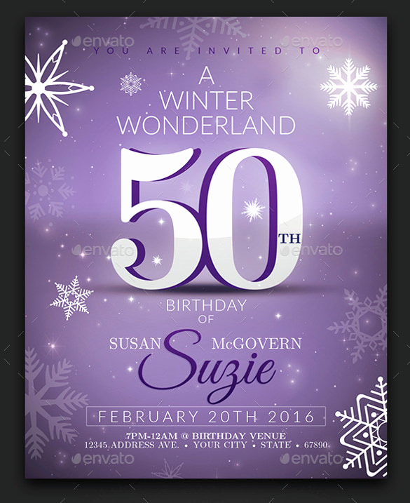 50th Birthday Invitation Templates Awesome 50th Birthday Invitation Templates
