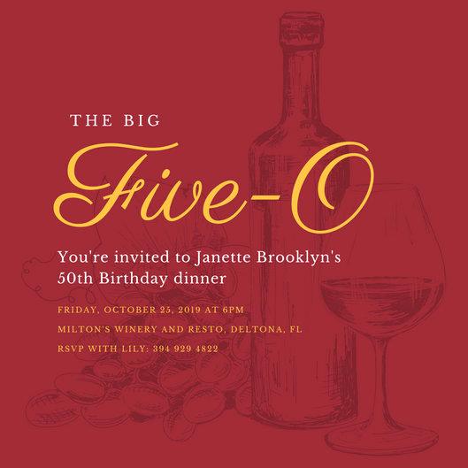 50th Birthday Invitation Templates Elegant 50th Birthday Invitation Templates Canva