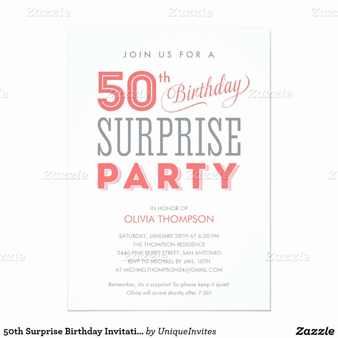 50th Birthday Invitation Templates Elegant 50th Birthday Invitations for Women