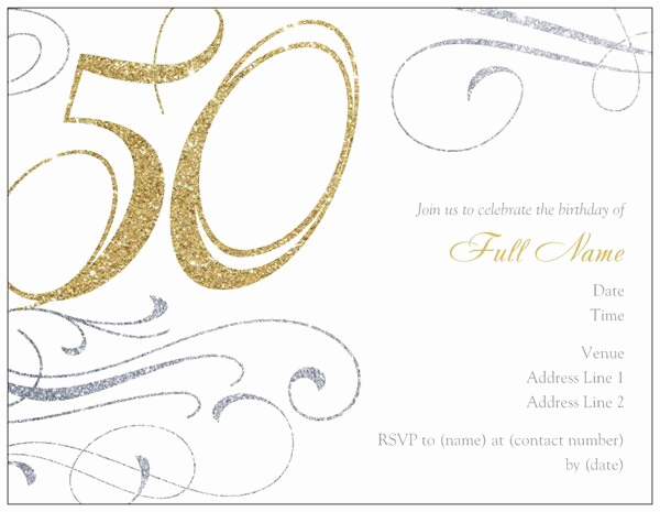 50th Birthday Invitation Templates Fresh 50th Birthday Invitation Templates Free Printable A