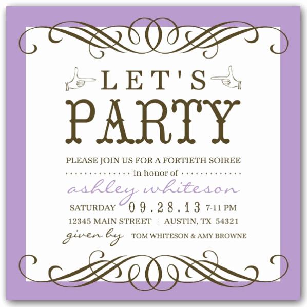 50th birthday party invitation wording