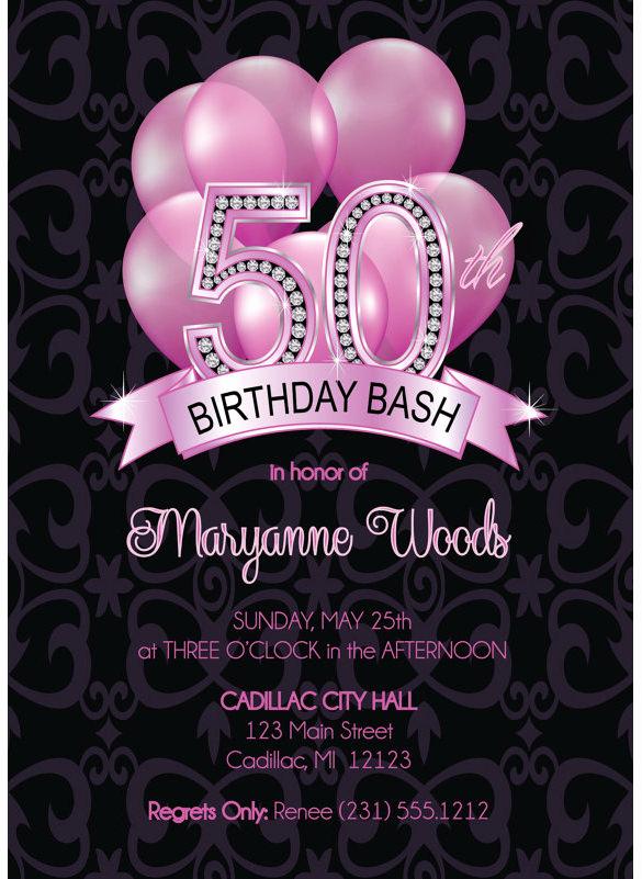 50th Birthday Invitation Templates Inspirational 14 50th Birthday Invitations Free Psd Ai Vector Eps