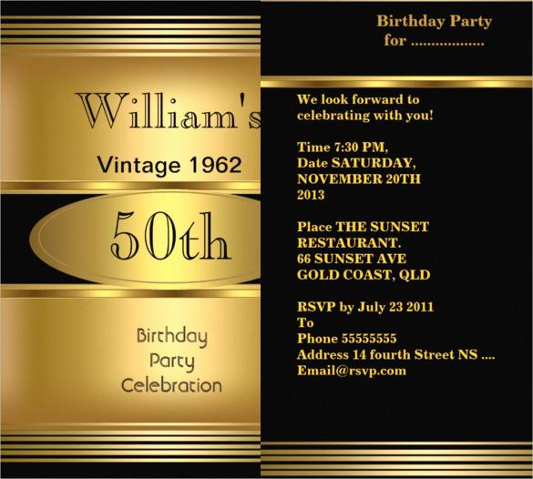 50th Birthday Invitation Templates Inspirational 45 50th Birthday Invitation Templates – Free Sample