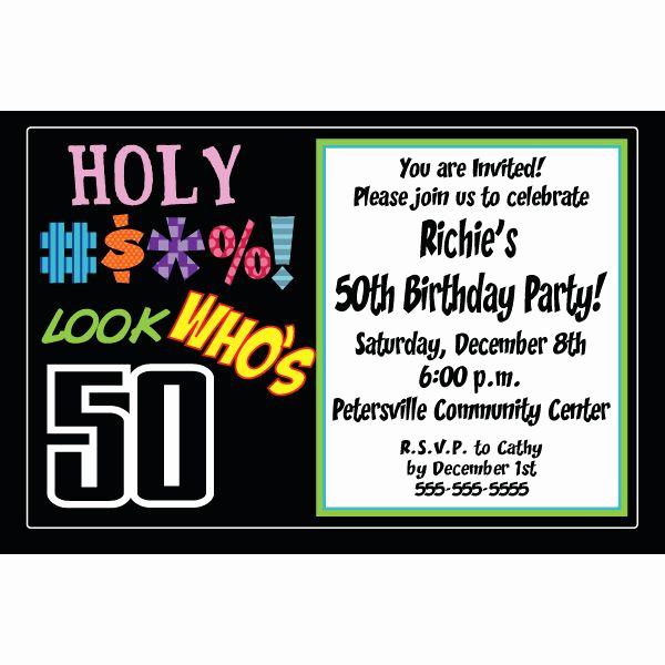 50th Birthday Invitation Templates Inspirational Free 50th Birthday Party Invitations