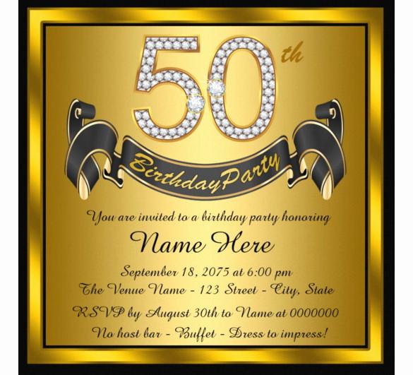50th Birthday Invitation Templates Lovely 14 50th Birthday Invitations Free Psd Ai Vector Eps