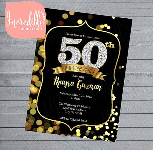 50th Birthday Invitation Templates Luxury Invitation Template Download Premium and Free Documents