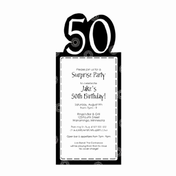 50th Birthday Invitation Templates Word Elegant 50th Birthday Party Invitation Template by Loveandpartypaper