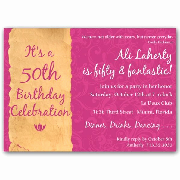 50th Birthday Invitation Templates Word Elegant Free 50th Birthday Party Invitations