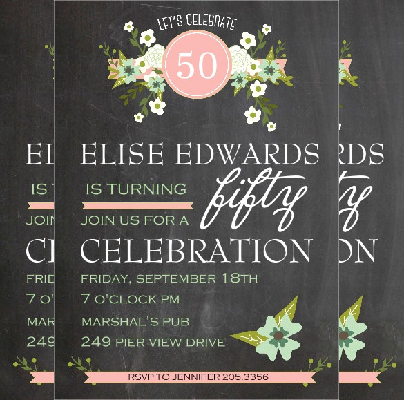 50th Birthday Invitation Templates Word Inspirational 45 50th Birthday Invitation Templates – Free Sample