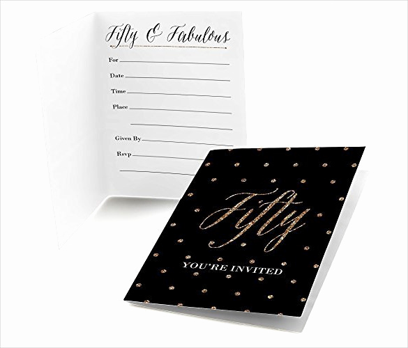 50th Birthday Invitation Templates Word Luxury 45 50th Birthday Invitation Templates – Free Sample