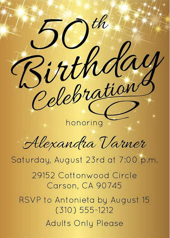 50th Birthday Invitation Templates Word Luxury 50th Birthday Invitation Template Elegant Birthday