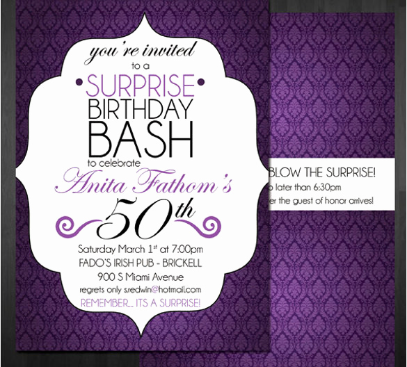 50th Birthday Invitation Templates Word New 49 Birthday Invitation Templates Psd Ai Word