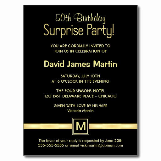 50th Birthday Invitation Templates Word Unique Surprise 50th Birthday Party Invitations Wording