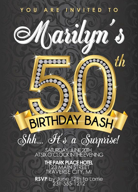50th Birthday Party Invitation Ideas Awesome 17 Best Ideas About 50th Birthday Invitations On Pinterest