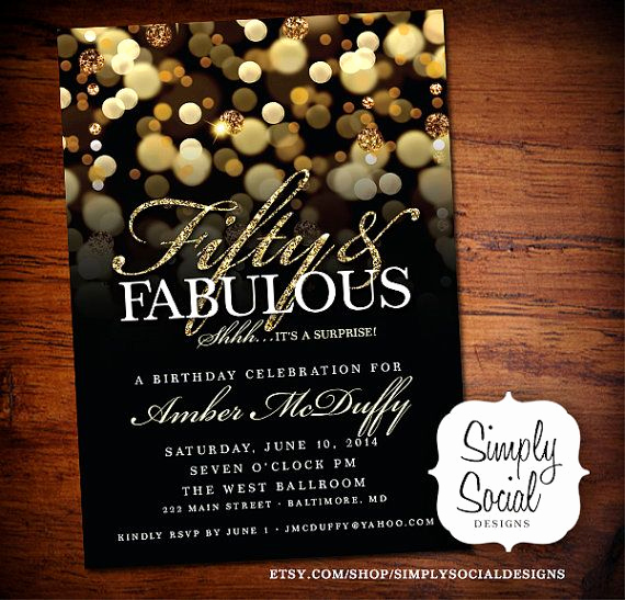 50th Birthday Party Invitation Ideas Awesome Surprise 50th Birthday Party Invitation by