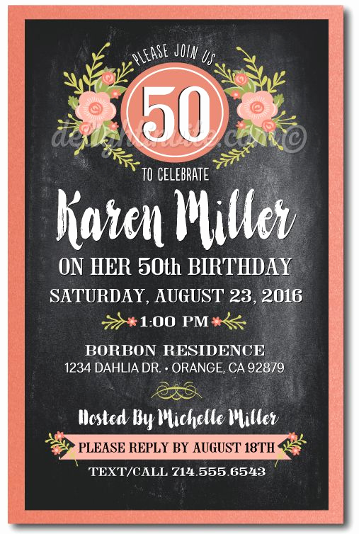 50th Birthday Party Invitation Ideas Lovely 25 Best Ideas About 50th Birthday Invitations On