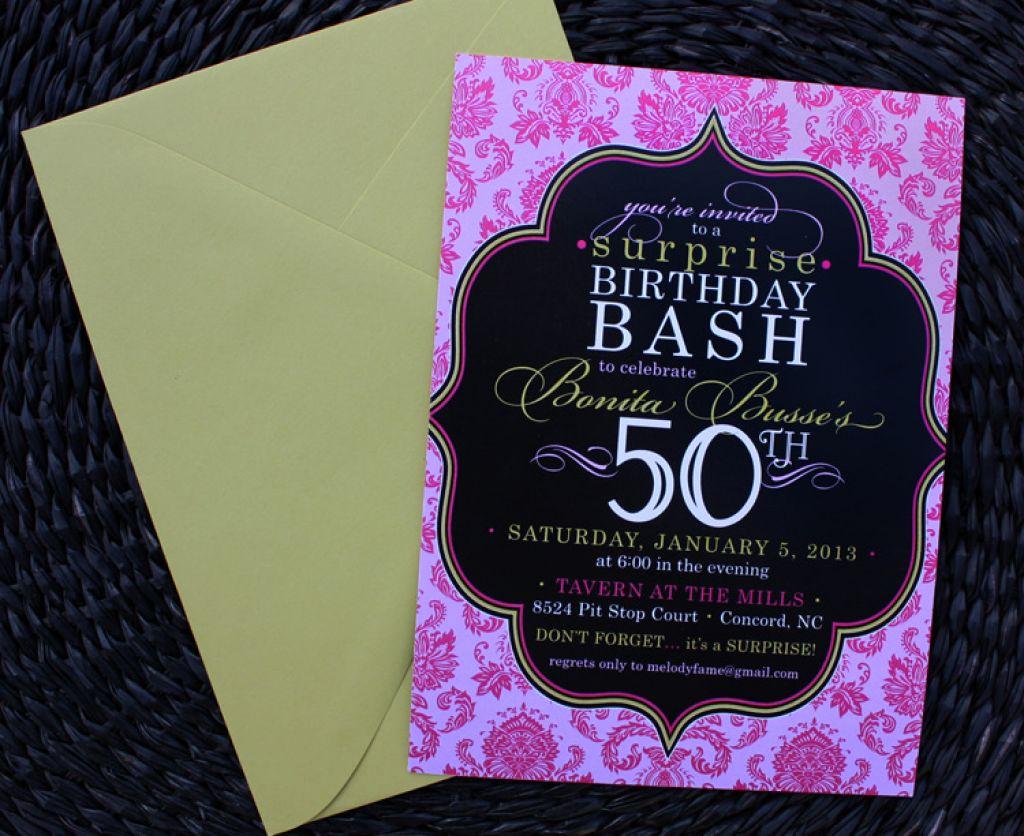 50th Birthday Party Invitation Ideas Unique Party Invitations 50th Birthday